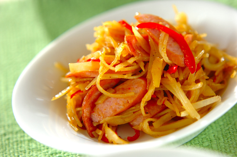ジャガイモのカレー炒めの作り方の手順