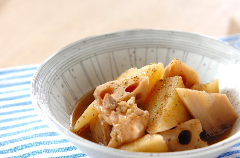 レンコンと長芋の煮物の作り方の手順