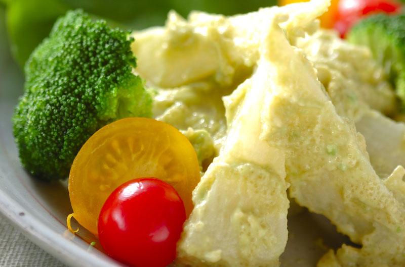 長芋のタラコアボカド和えの作り方の手順