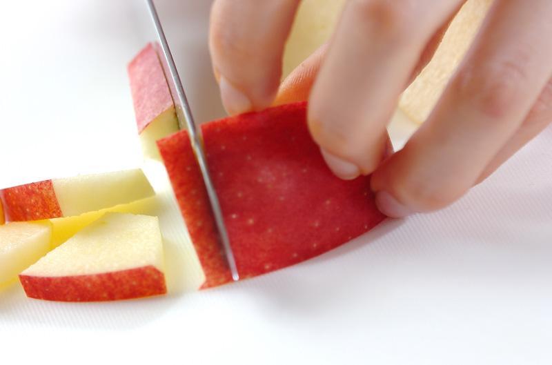 サラミとリンゴのサラダの作り方の手順2