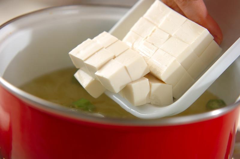 オクラのみそ汁の作り方の手順3