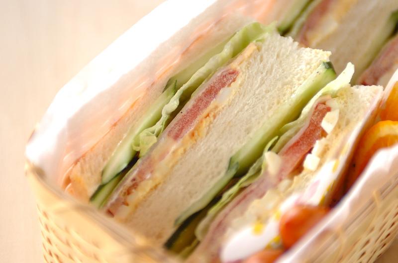 ミックスサンドイッチの作り方の手順