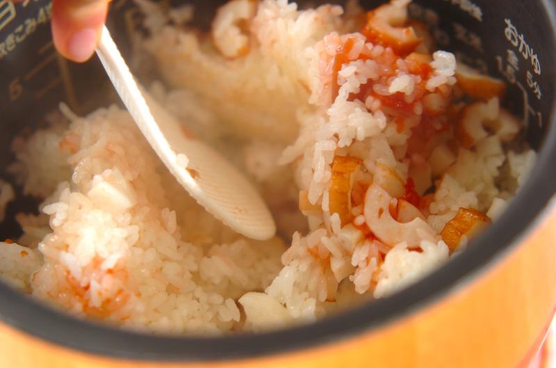 ちくわと梅の炊き込みご飯の作り方の手順4