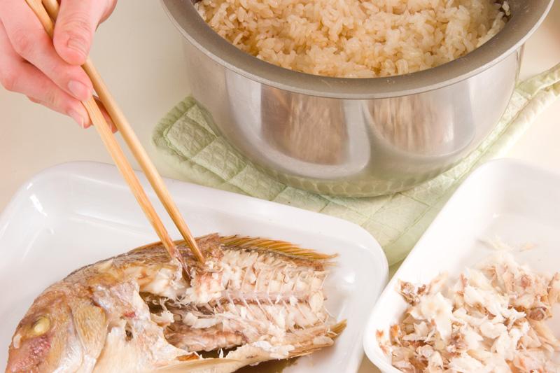 鯛ご飯の作り方の手順7