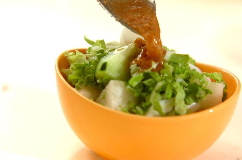 白菜と梨のゴマダレサラダの作り方の手順6