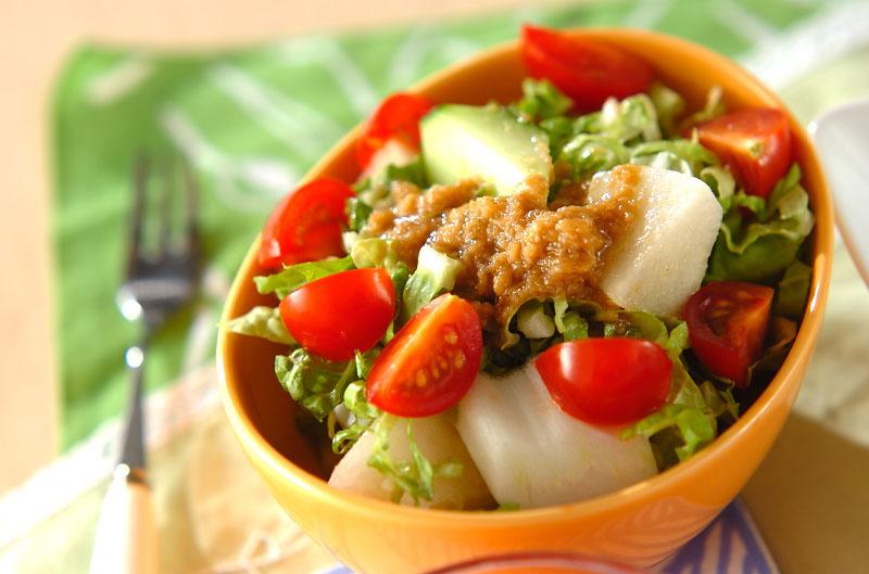 白菜と梨のゴマダレサラダの作り方の手順