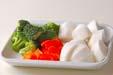 温野菜サラダの下準備1