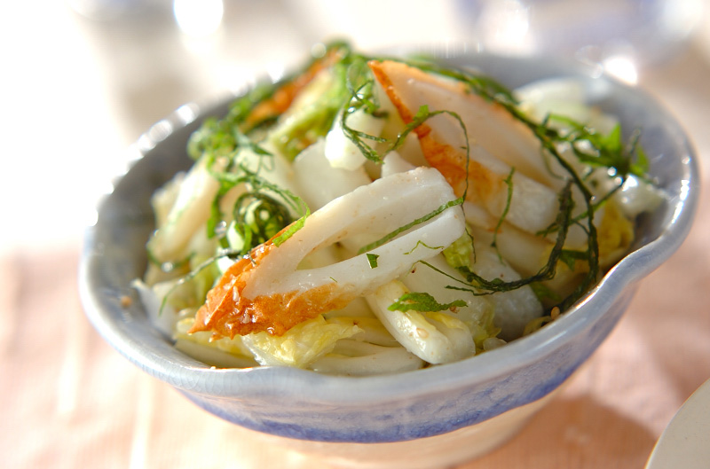 白菜とちくわのサッパリ和えの作り方の手順