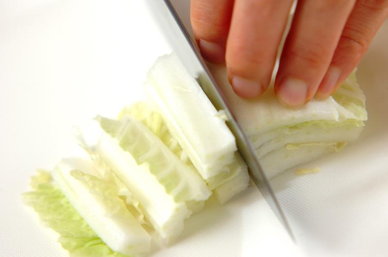 白菜とちくわのサッパリ和えの作り方の手順1