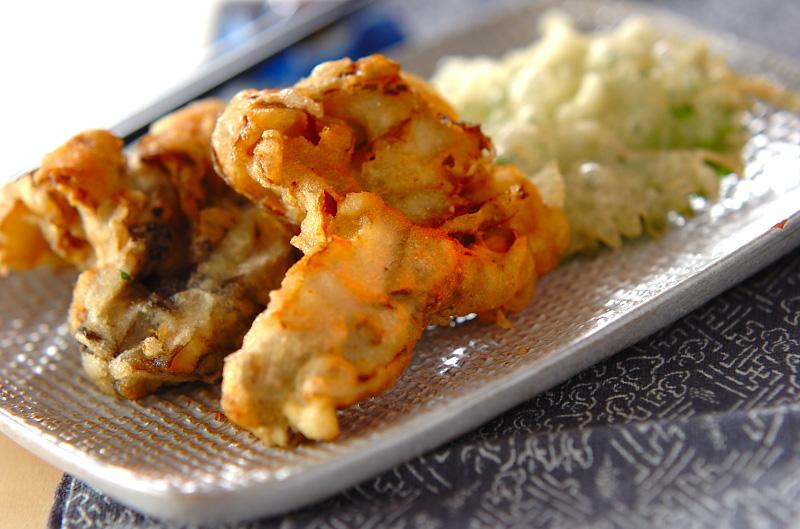 マイタケと大葉の天ぷら
