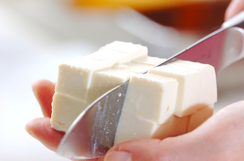 シイタケのみそ汁の下準備3