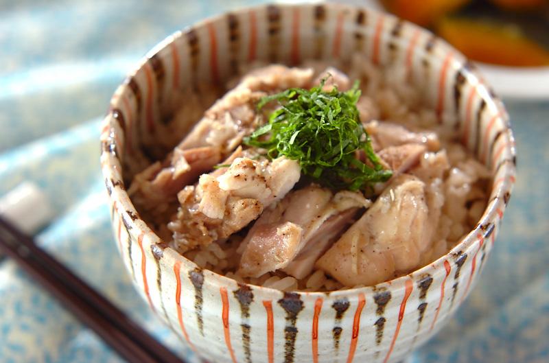 鶏の炊き込みご飯の作り方の手順