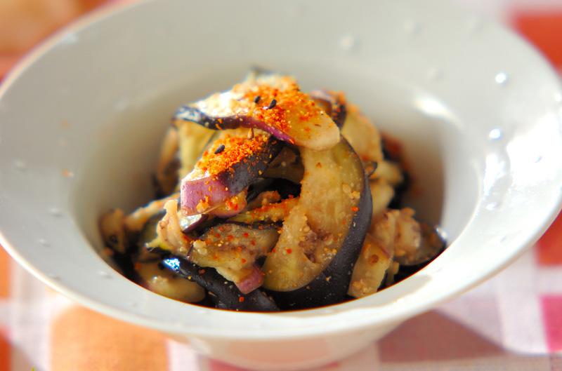 ナスのゴマ酢和えの作り方の手順