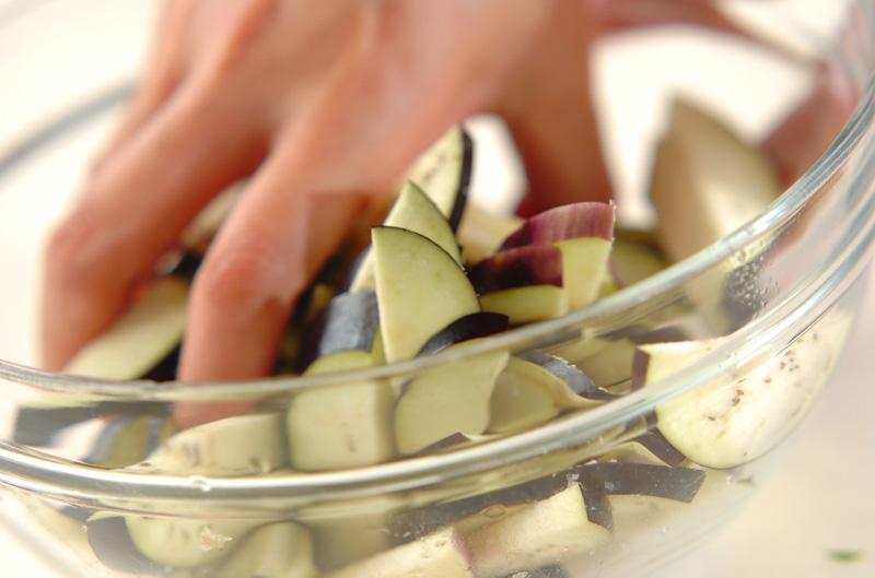 ナスのゴマ酢和えの作り方の手順3