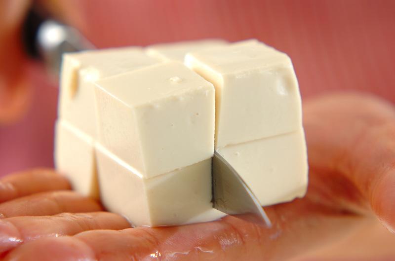 豆腐のグリーンサラダの作り方の手順1