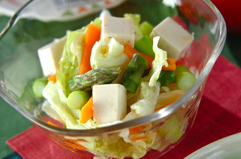 豆腐のグリーンサラダの作り方の手順