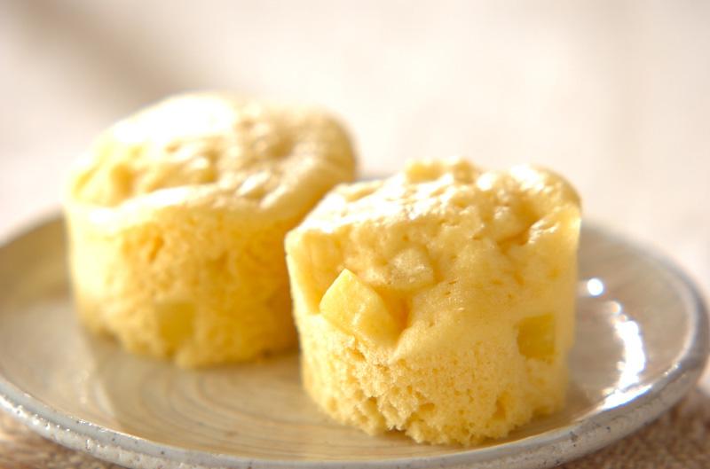 ホットケーキミックスで!サツマイモのレンジ蒸しパン