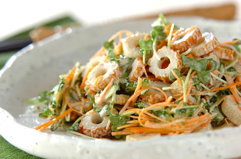 ゴーヤとちくわのゴママヨネーズサラダ【E・レシピ】料理のプロが作る簡単レシピ/2012.07.23公開のレシピです。