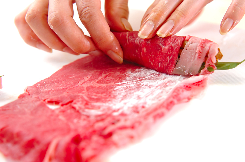 牛肉のお祝いロールの作り方の手順3