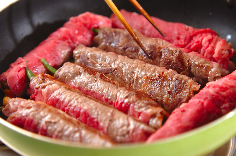 牛肉のお祝いロールの作り方の手順4