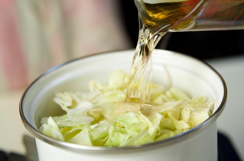 春キャベツのスープ煮の作り方の手順2