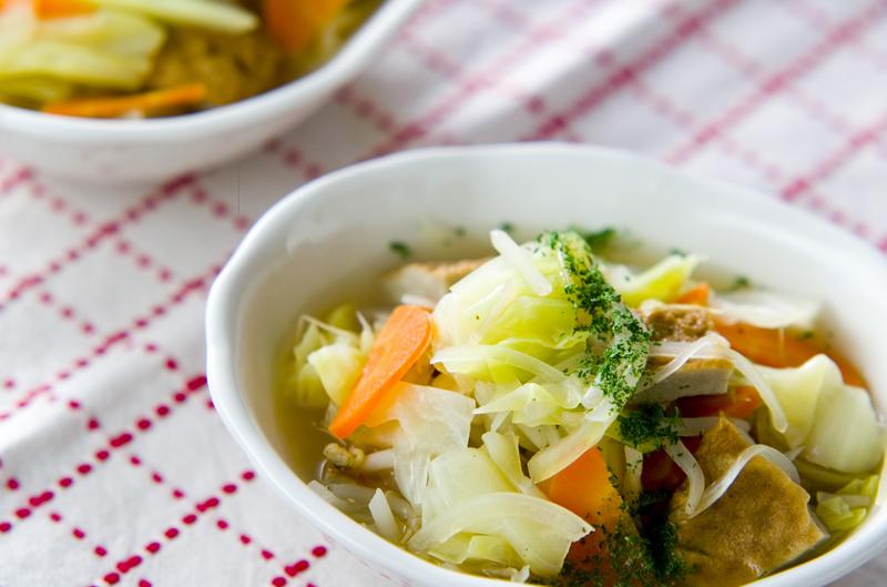 春キャベツのスープ煮の作り方の手順