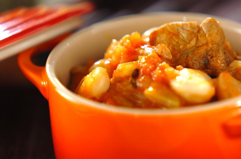 白インゲン豆と豚肉の煮込み