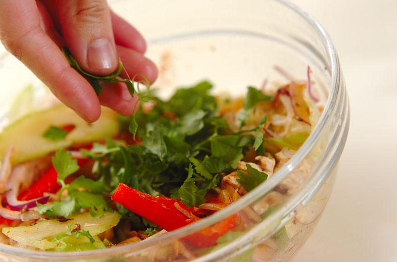 蒸し鶏とセロリのスパイスマリネの作り方の手順5