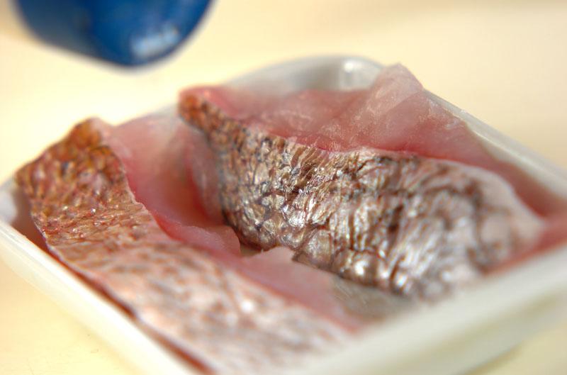 鯛のグリル塩焼きの作り方の手順1
