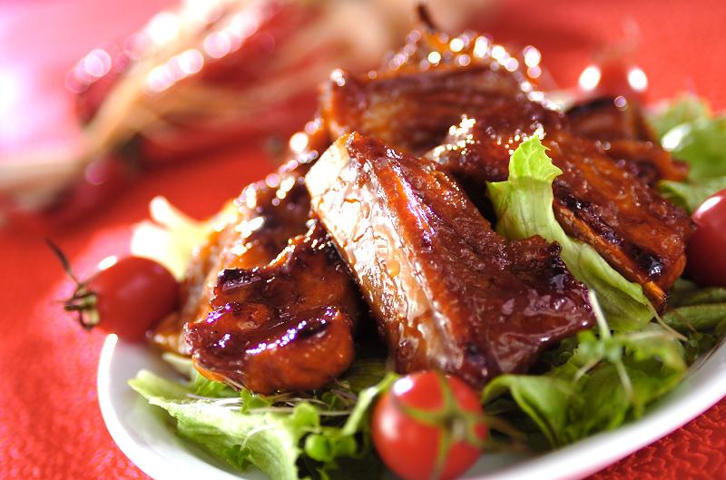 骨付きバラ肉のショウガ炒め煮
