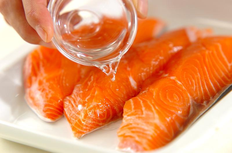手作り鮭フレークのマヨパスタの作り方の手順1