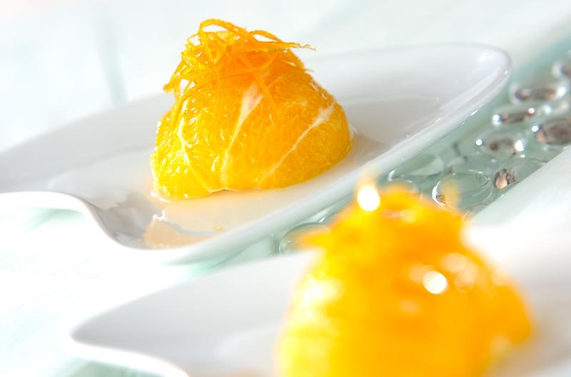 オレンジのコンポートの作り方の手順