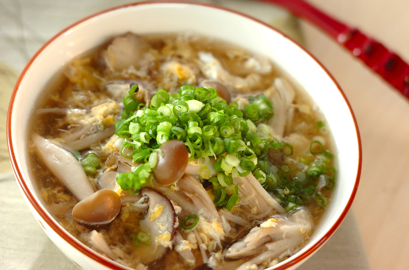 梅干し風味のキノコスープ
