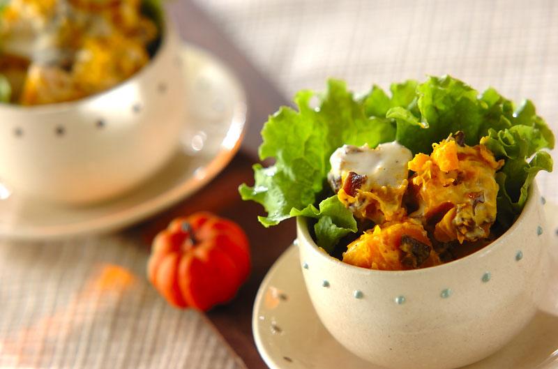 カボチャとプルーンのサラダの作り方の手順