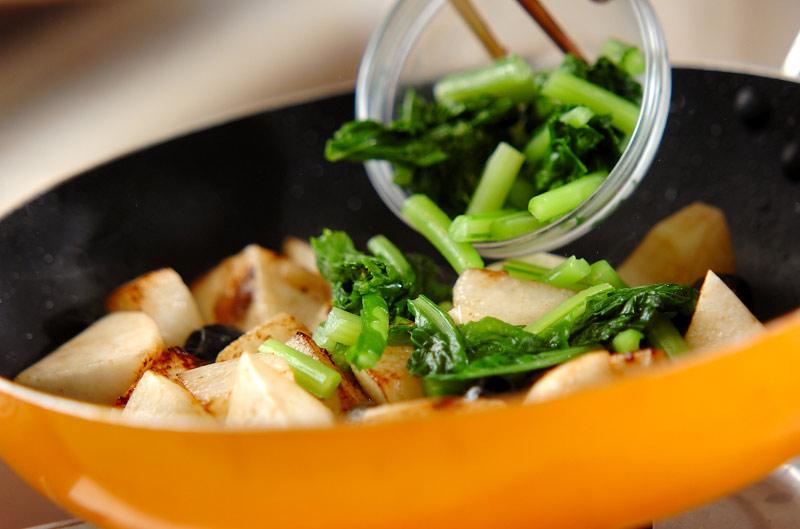 カブと長芋のアンチョビ炒めの作り方の手順4