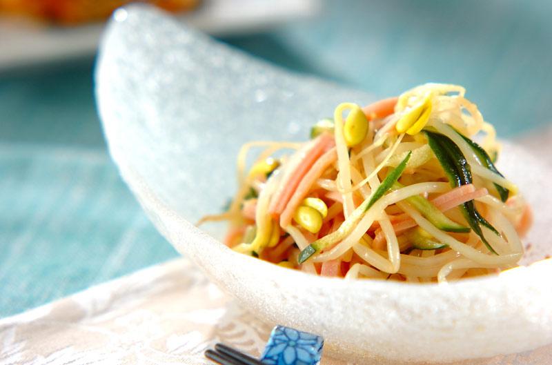 豆モヤシの中華サラダの作り方の手順