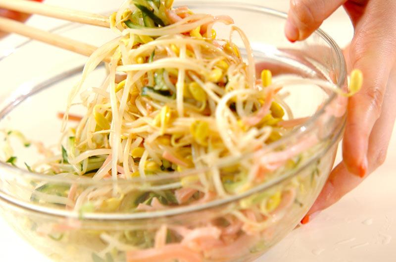 豆モヤシの中華サラダの作り方2