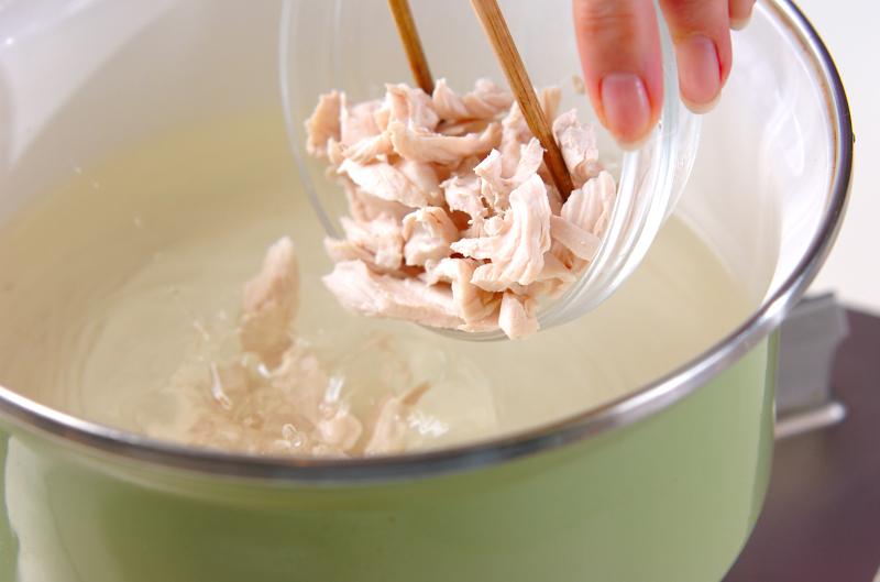 ささ身のスープの作り方の手順7