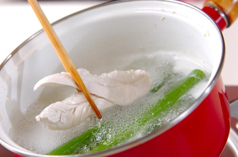 ささ身のスープの作り方の手順1