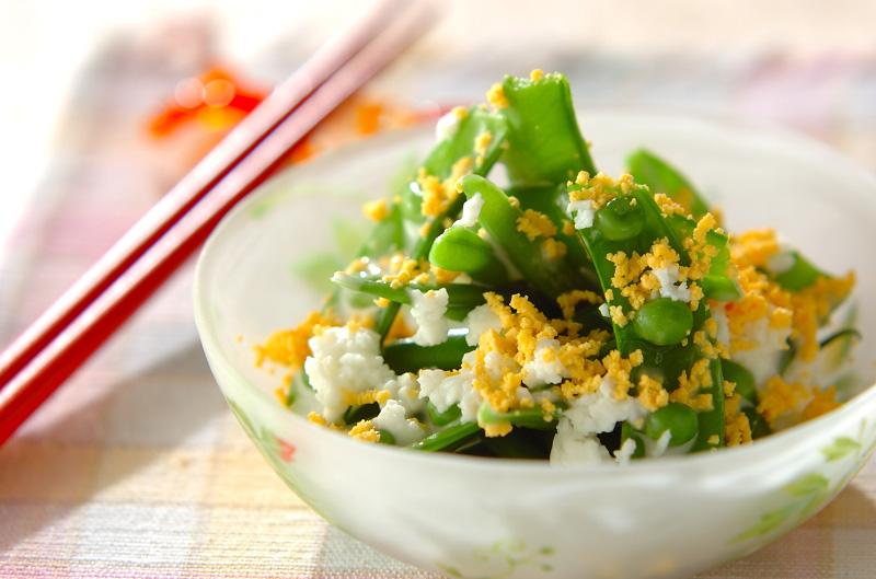 緑野菜のミモザサラダの作り方の手順