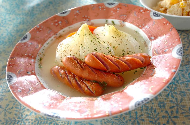 新玉ネギのコンソメ蒸しの作り方の手順