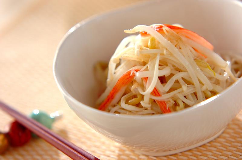 モヤシの山椒酢和えの作り方の手順