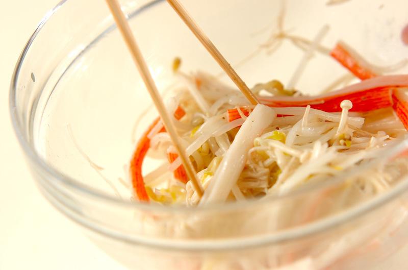 モヤシの山椒酢和えの作り方の手順5