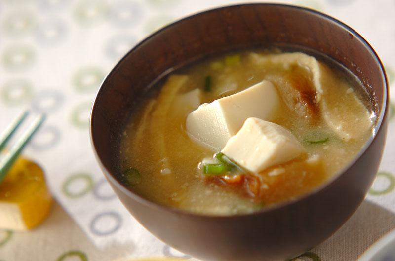 豆腐のみそ汁の作り方の手順