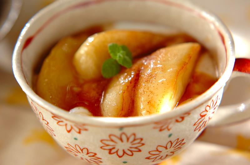 リンゴのカラメルソテーの作り方の手順