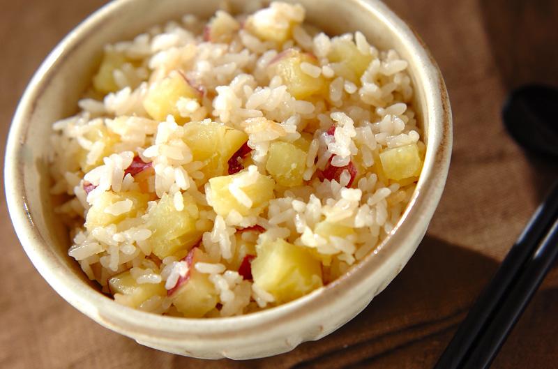 サツマイモご飯の作り方の手順
