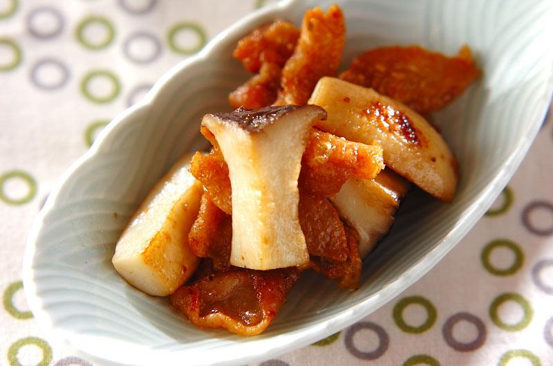 鶏皮のユズコショウ炒めの作り方の手順