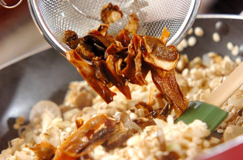 ポルチーニ茸の押し麦リゾットの作り方2
