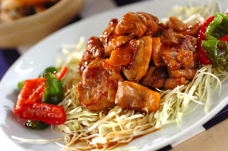鶏肉のショウガ焼きの作り方の手順