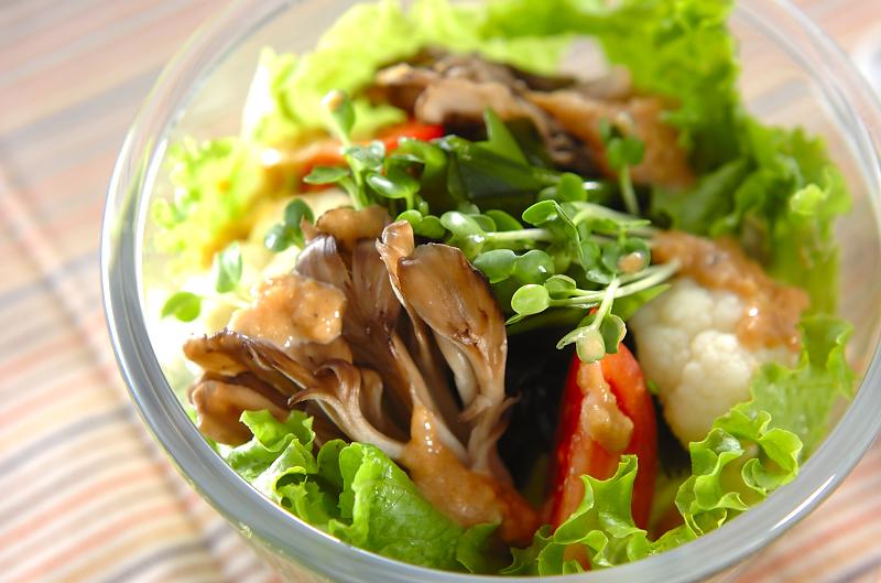 マイタケのサラダ